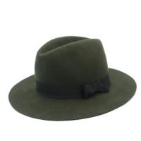 100% Wool Wide Brim Floppy Felt Trilby Bowknot Fedora Hat