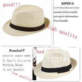 Fedora Trilby Gangster Cap Summer Beach Cap Panama Hat