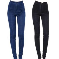 Women Pencil Pants High Waist Jeans