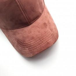 Velvet Snapback Baseball Cap