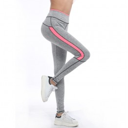 Women Lady Activewear Pink Legging light grey