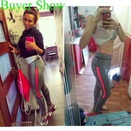 Women Lady Activewear Pink Legging light grey
