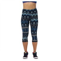 Floral Printing Capris Leggings Lady's  Casual Stretched Pants