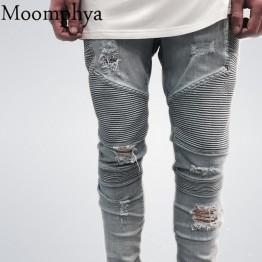 Denim distressed Men's Slim Jeans