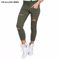 Women leggings high waist 95% cotton elastic belt pencil pants