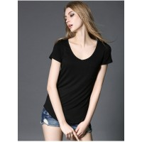 V Neck Short Sleeve T Shirts