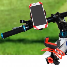 Bicycle Handlebar 360-degree Rotation Cell Mobile Phone Mount Holder for iPhone Samsung
