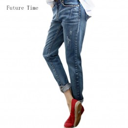Vintage Distressed Regular Spandex Ripped Jeans Denim