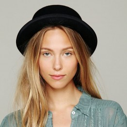 Wool Felt Wide Brim Fedora Hat