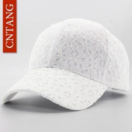 Lace Cotton Baseball Cap For Women Breathable Mesh