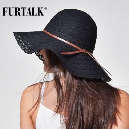 Women Beach Sun Hat Foldable Brimmed Straw Hat