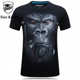 3D T Shirt Men  Animals Print