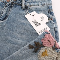 Flowers Embroidered Jeans Women