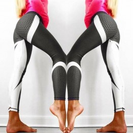 Mesh Pattern Print Leggings