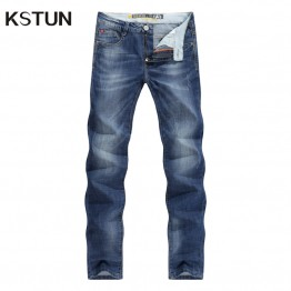 Business Casual Thin Summer Straight Slim Fit Blue Jeans