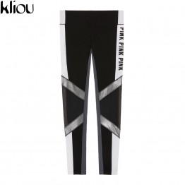 Black Letter Print Workout Sporting Adventure Time Fashion Leggings