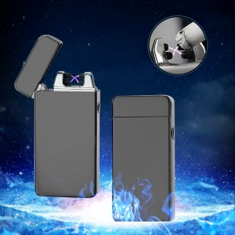 Luxury Dual Arc Electronic USB Lighter Flameless Windproof Cigarette Lighter Plasma Rechargeable