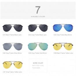 100% Polarized Aluminum Alloy Frame Sunglasses