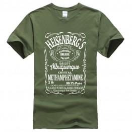 Breaking Bad Heisenberg letter T-shirt hip hop blouse men's sportswear t shirt