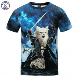 Cats T-shirt 3d Print Meow Star Cat Hip Hop Cartoon