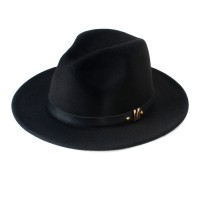 Wool Women's Black Fedora Hat