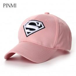 Superman Baseball Cap Women Pink