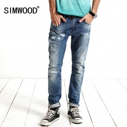 Men Long skinny ripped distressed  jeans