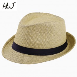 Beach Sunhat Fedora hat Trilby Straw panama Hat