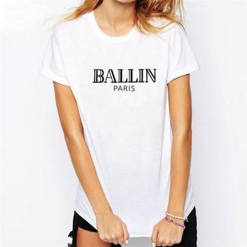 Letter Ballin Paris Tee Shirt32643836523