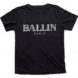 Letter Ballin Paris Tee Shirt