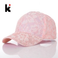 Women's Baseball Caps Lace Breathable Mesh Hat