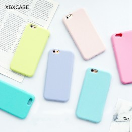 Macarons Color Silicone Frosted Matte Phone Case