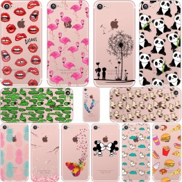 Mickey&Minnie kiss Lips pineapple unicorn Flamingo cactus soft silicone cases cover